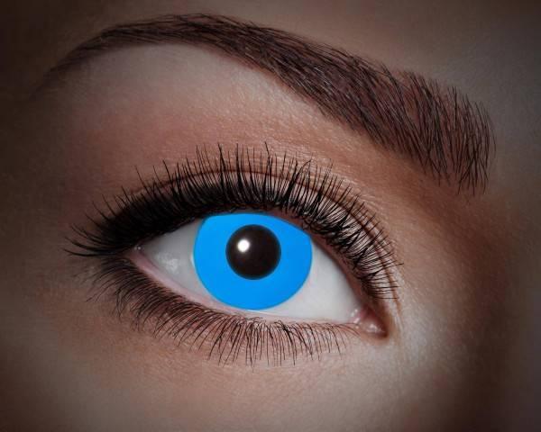 Kontaktlinsen UV Flash Blue 1 Monat