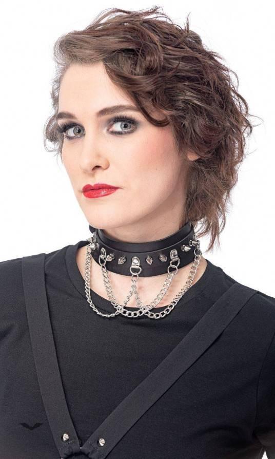 Queen of Darkness Halsband Killer Chains