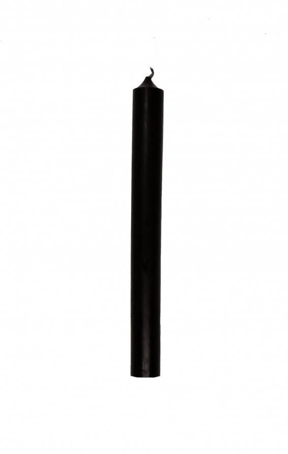 Schwarze Kerze 18cm - Abaddon Mystic Store