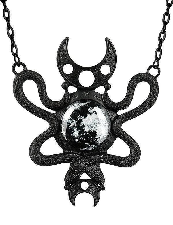 Restyle Halskette Moon Serpent Black - Abaddon Mystic Store