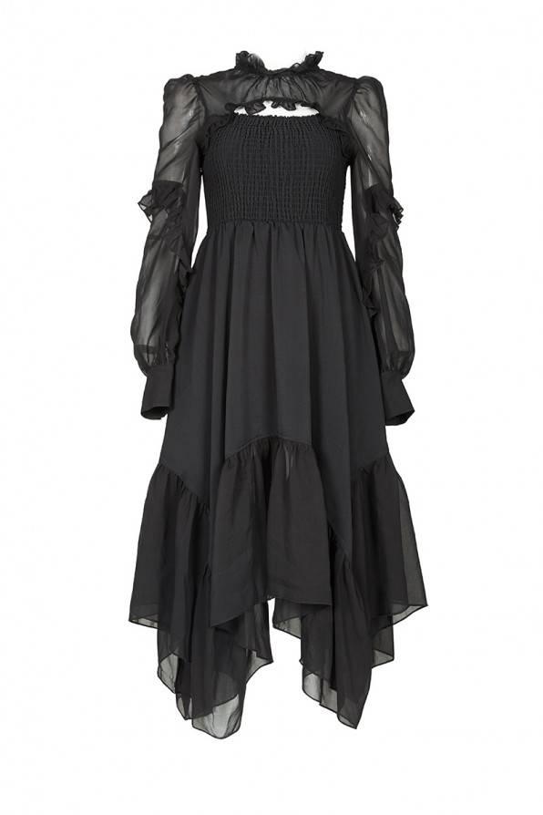 Punk Rave Kleid Lady In Black