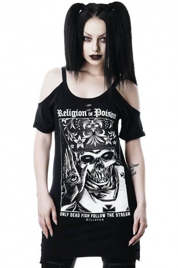 Killstar Top Religion Distress - Abaddon Mystic Store