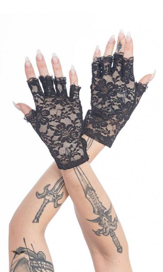 Queen of Darkness Handschuhe Violet