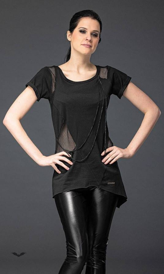 Queen of Darkness Shirt Black Chain