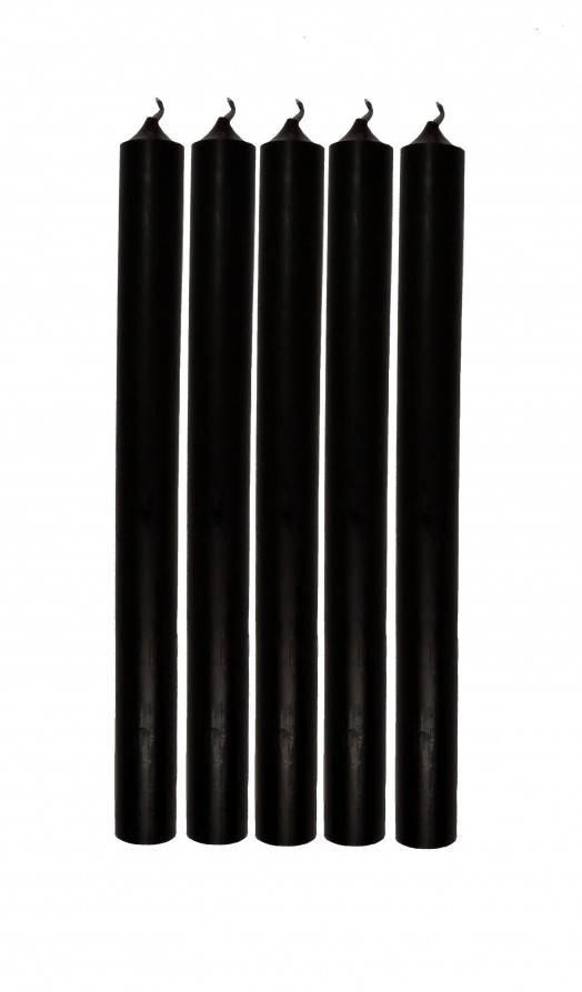Schwarze Kerzen 25cm 5er Pack - Abaddon Mystic Store