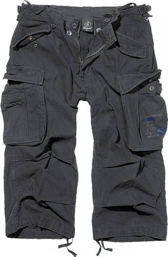 Brandit Shorts Industry Vintage 3/4 Schwarz - Abaddon Mystic Store