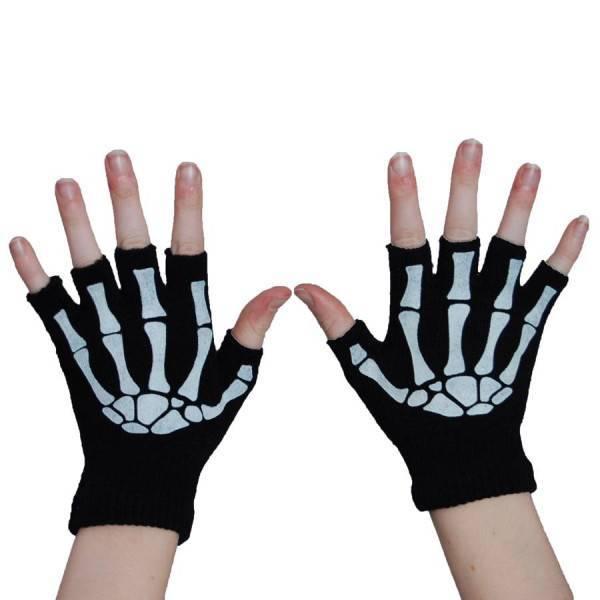 Poizen Industries Gloves Fingerless Skeleton - Abaddon Mystic Store
