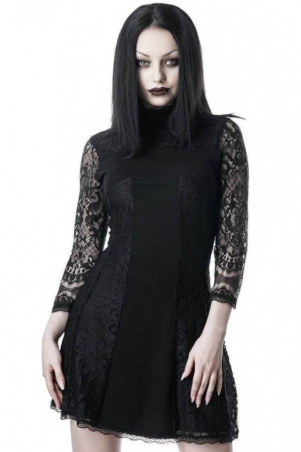 Killstar Kleid Crossed Over Lace - Abaddon Mystic Store