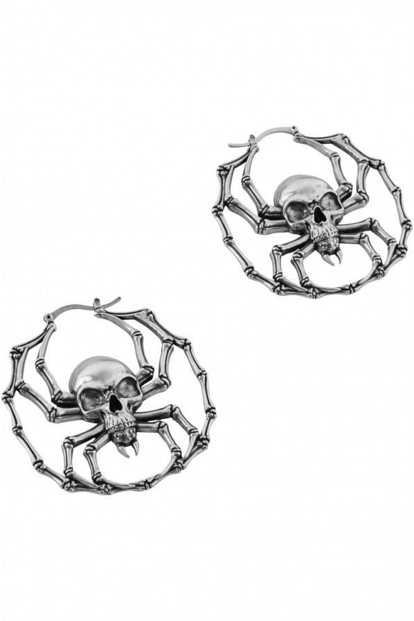 Killstar Ohrringe Deadly Hoop Silver
