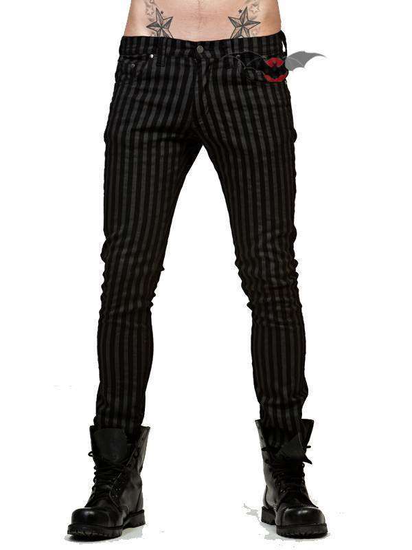 Queen of Darkness Hose Grey Stripes - Abaddon Mystic Store