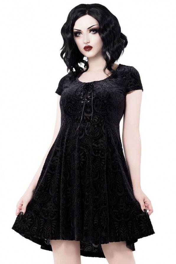 Killstar Kleid Angelyn Burnout - Abaddon Mystic Store