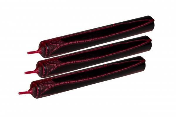 "Tropfkerze schwarz ""Blut"" 25cm 3er Pack - Abaddon Mystic Store"
