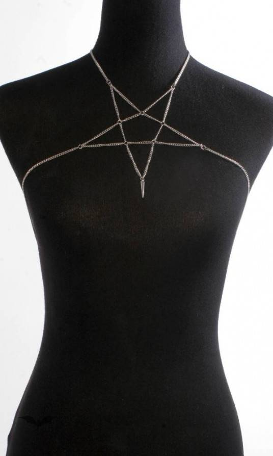 Queen of Darkness Halskette Pentagram
