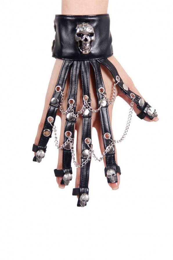 Devil Fashion Armband Skull & Chains