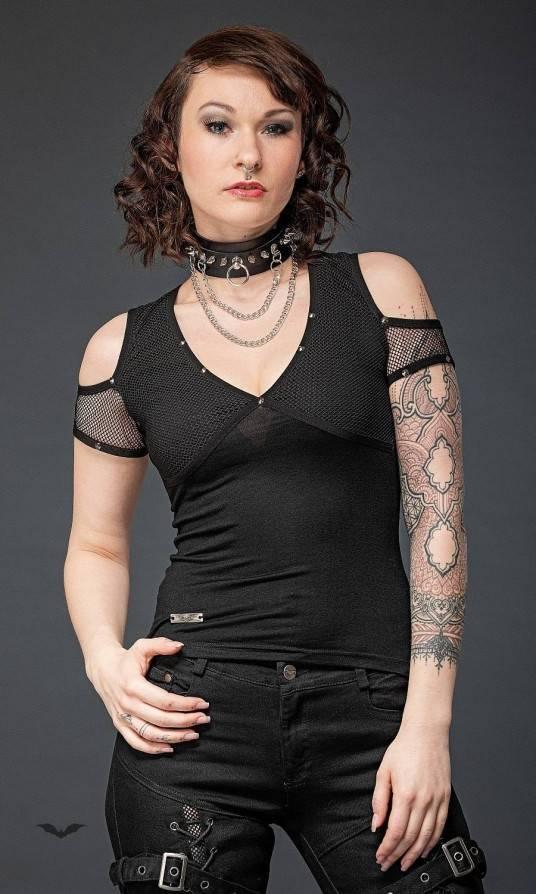 Queen of Darkness Shirt Net Sleeves