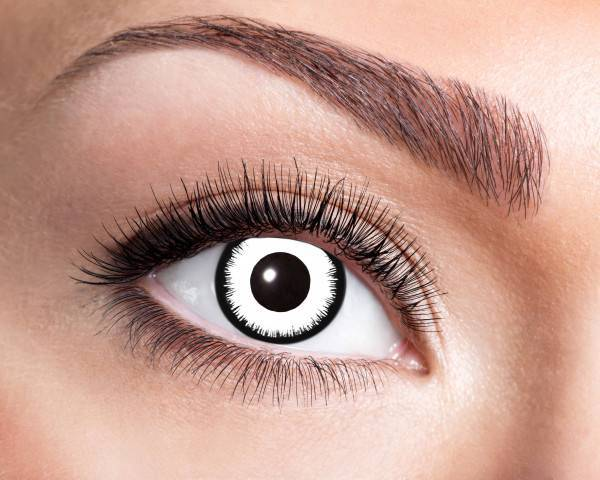 Kontaktlinsen Angelic White 3 Monate - Abaddon Mystic Store
