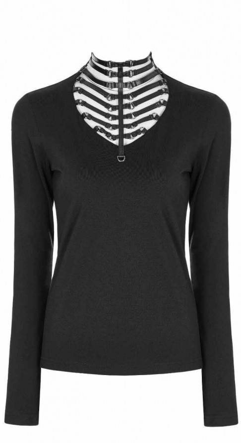 Punk Rave Longsleeve Strapped Cleavage - Abaddon Mystic Store