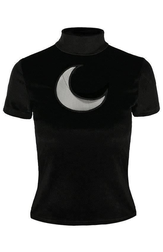 Restyle Shirt Black Velvet Crescent