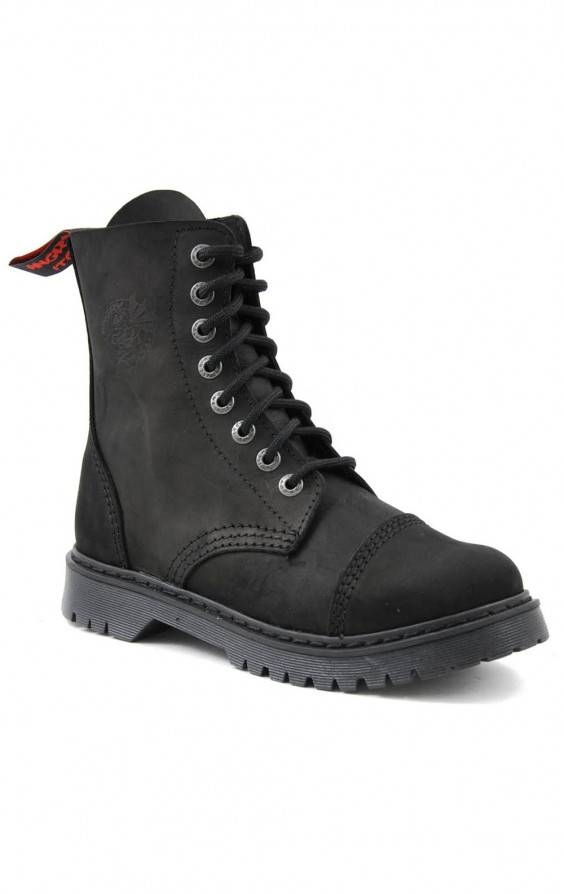 Angry Itch 8 Loch Stiefel Light Vintage Schwarz