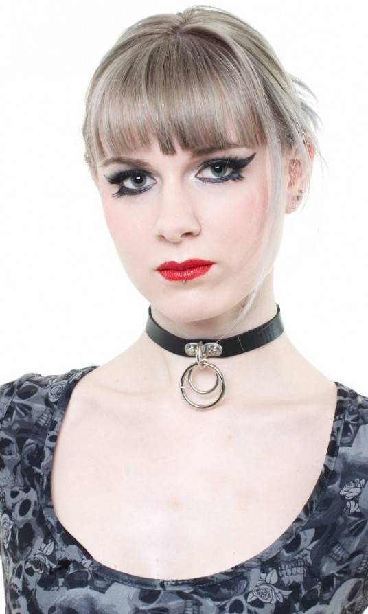 Queen of Darkness Halsband Double Rings