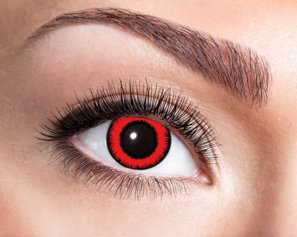 Kontaktlinsen Red Lunatic 3 Monate - Abaddon Mystic Store
