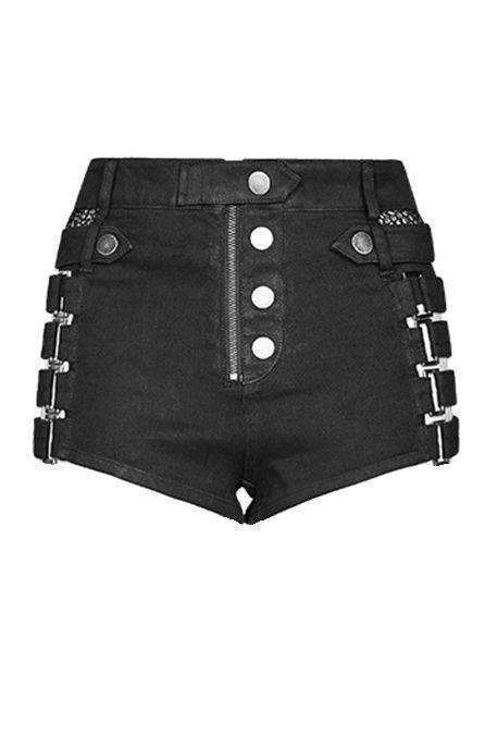 Punk Rave Hotpants Buckles & Net - Abaddon Mystic Store