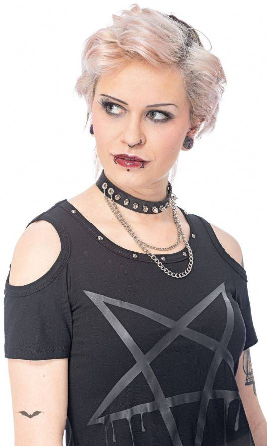 Queen of Darkness Halsband Double Chains