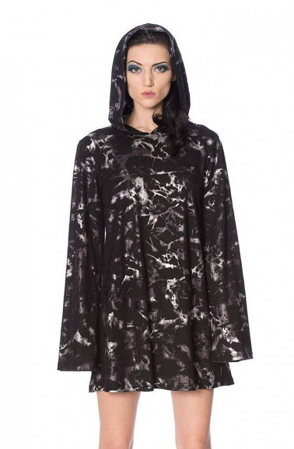 Banned Hoodie Kleid Silver Haze - Abaddon Mystic Store