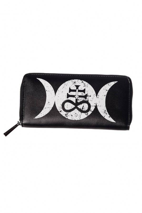 Banned Geldbörse Symbol Moon - Abaddon Mystic Store