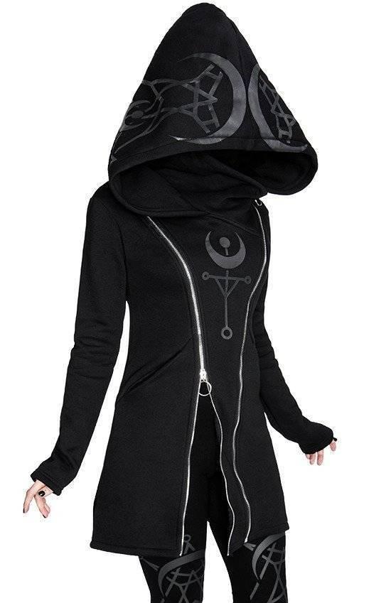 Restyle Hoodie Twin Moon - Abaddon Mystic Store
