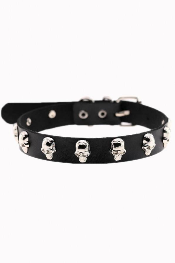 Banned Halsband Skulls