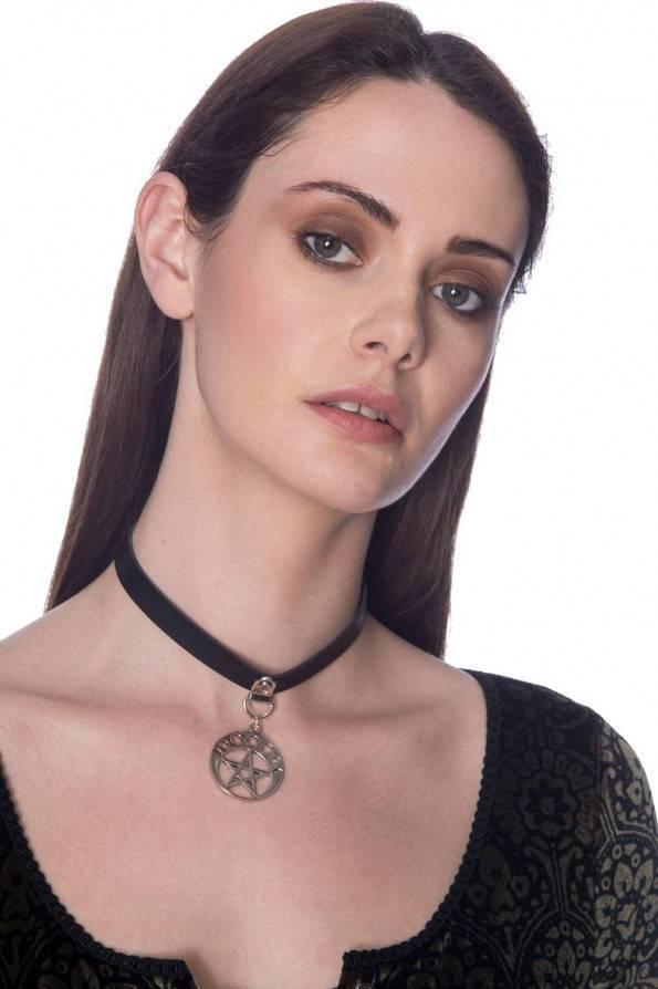 Banned Halsband Luna Pentagram