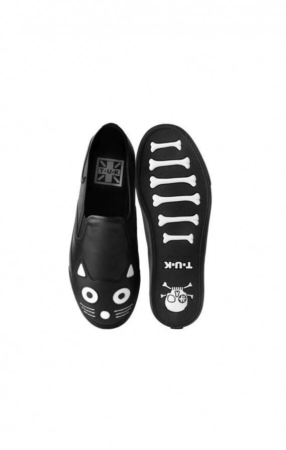 T.U.K. Sneaker Kitty Cat Face